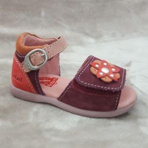 KICKERS Baby Girls Leather Sandals Sz 5 USA